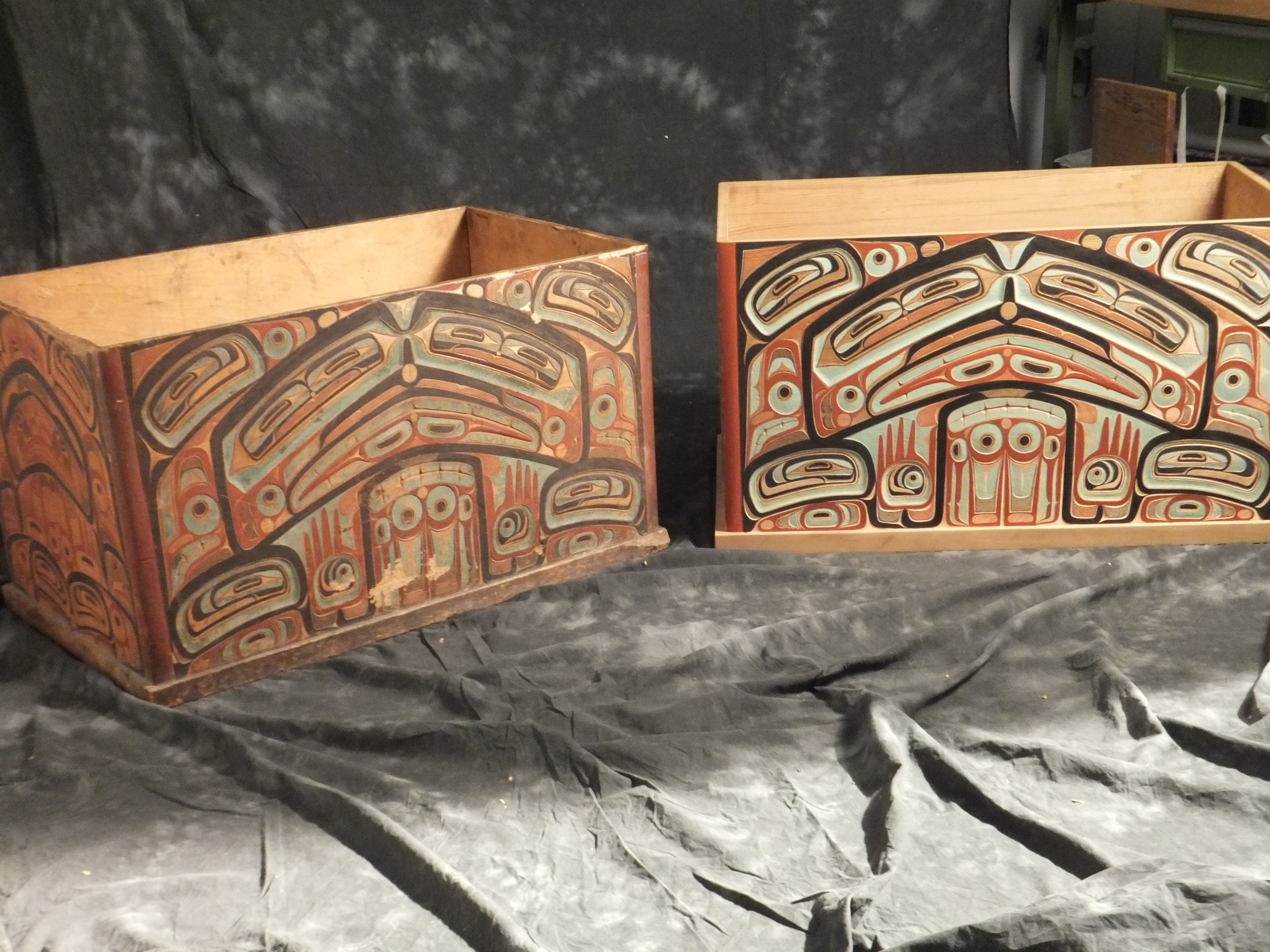 Old and new: The copy stands to the right of the old master's piece.  Photo: Pitt Rivers Museum