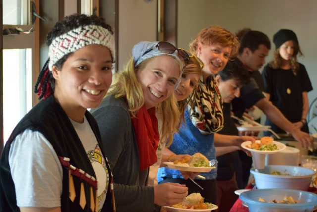 Haida host and feast with representatives of Greenpeace Canada to Haida Gwaii in May.