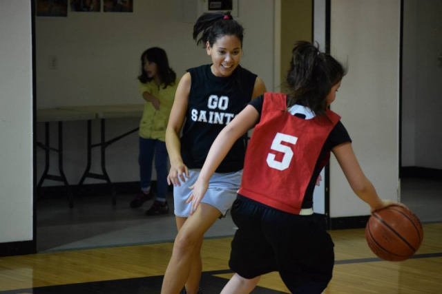 Haida women prepare for the Junior All Native Basketball Tournament at Nanaimo in March. Pictured: Ashley Crosby