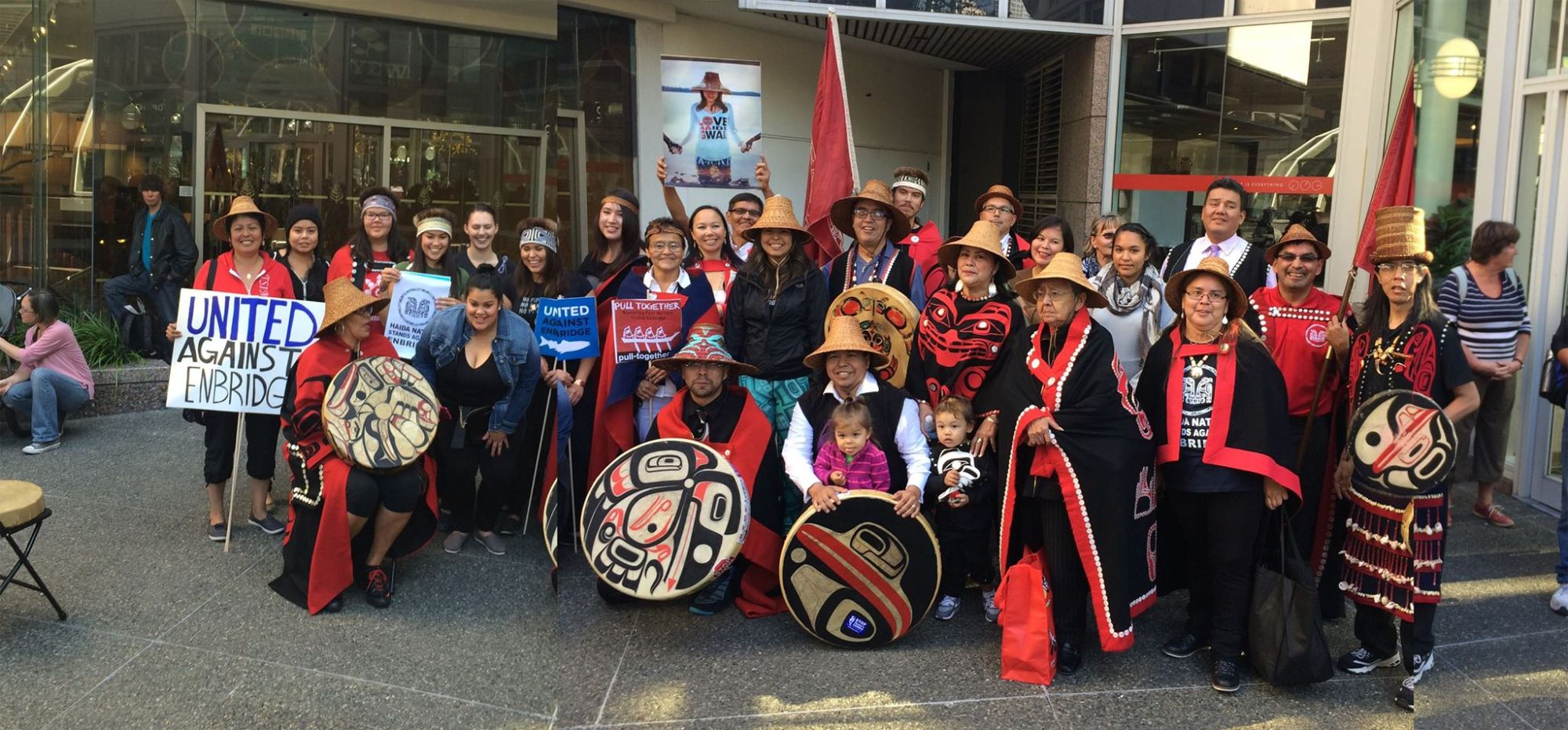 Haida show solidarity with the coast as the support their case at the Enbridge Northern Gateway Pipeline hearings at Vancouver in October.