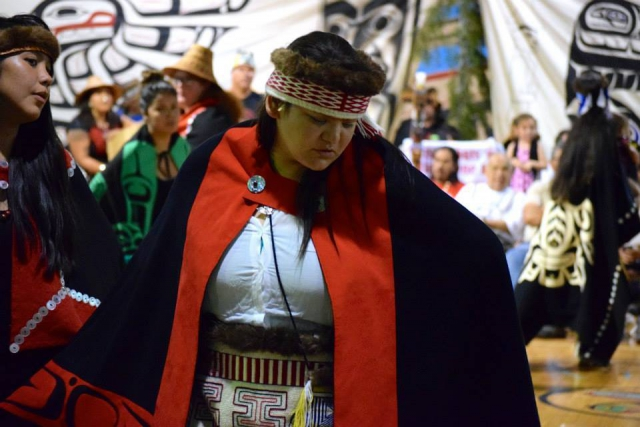 Haidas dance at the Heiltsuk-Haida peace potlatch in July. Pictured: Amy Hans