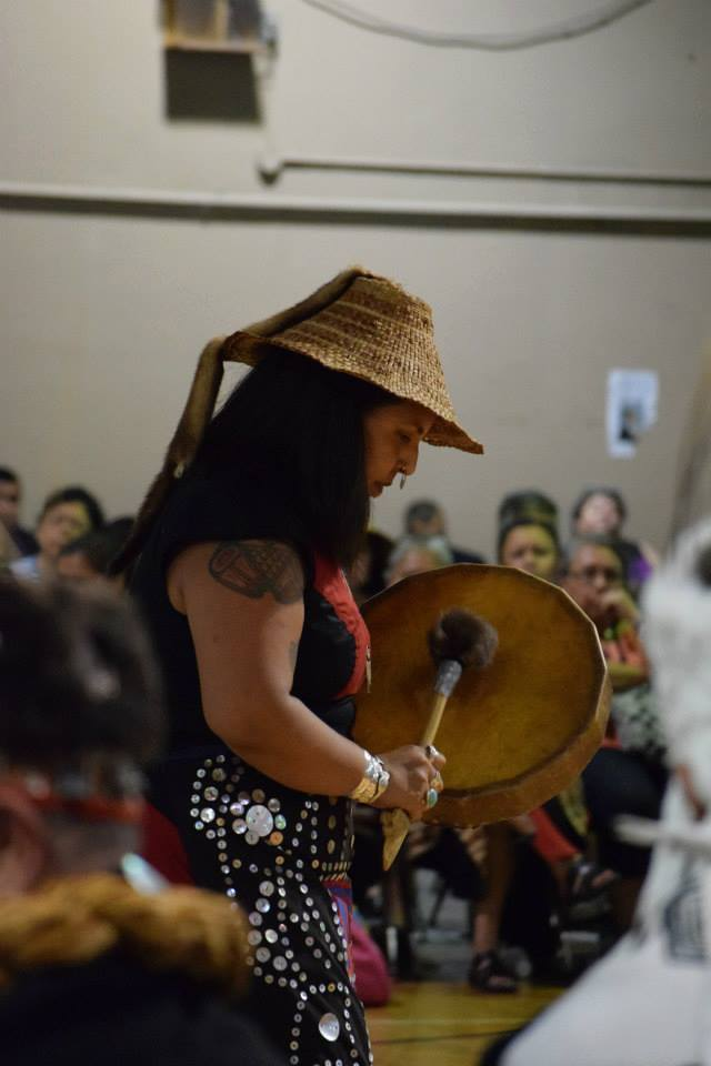 Haidas sing at the Heiltsuk-Haida peace potlatch in July.