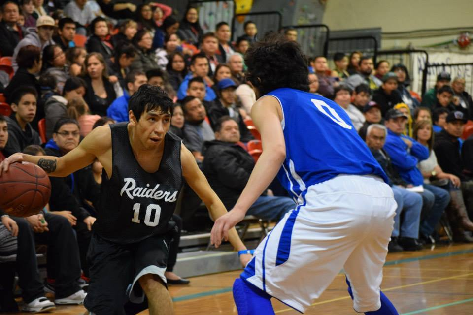 Haida basketball players  perform at the All Native Basketball Tournament in February. The nation finished the 2015 tournament by taking home one sportsman-like team award, two first places, and two second places.