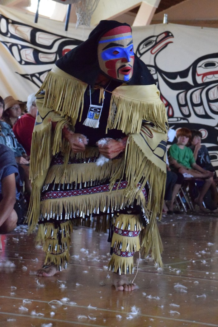 Heiltsuk dancers celebrate the years of lasting peace between Heiltsuk and Haida nations in July.