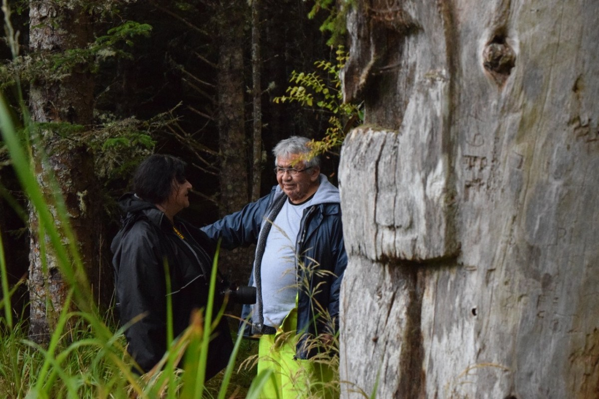 Haida language speakers traverse Haida Gwaii in search of ancestral knowledge in September. PIctured: Hlg̱awangdlii Skilaa (Lawrence Bell)
