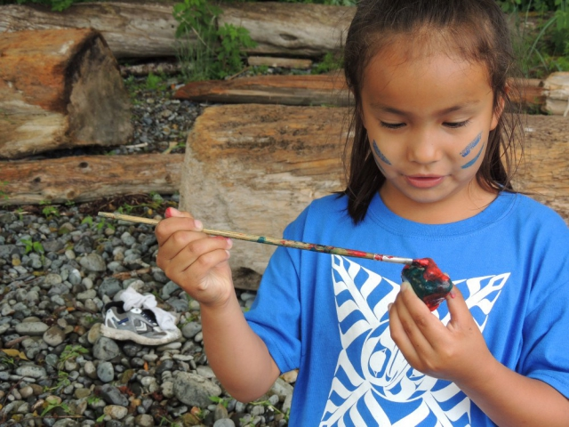 Haida Gwaii Residents celebrate Aboriginal Day in June. Photo: Tawla Jaad