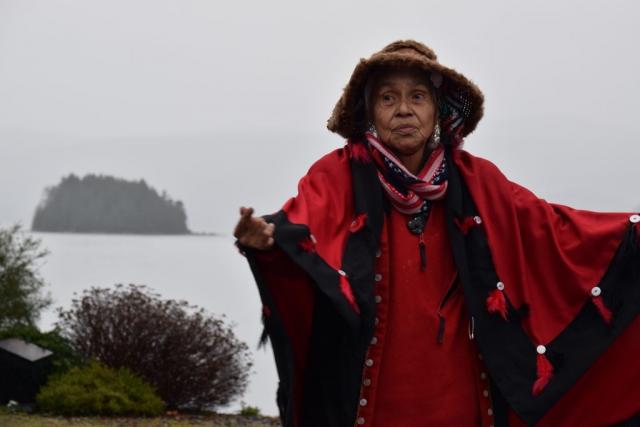 Haida Woman, Haida Regalia, Queen Charlotte, Haida Gwaii, Sphenia Jones, Logging