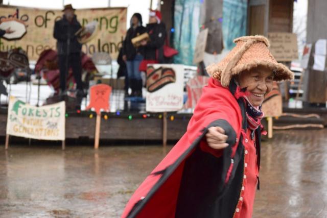 Haida Woman, Haida Regalia, Queen Charlotte, Haida Gwaii, Sphenia Jones, Logging, Indigenous