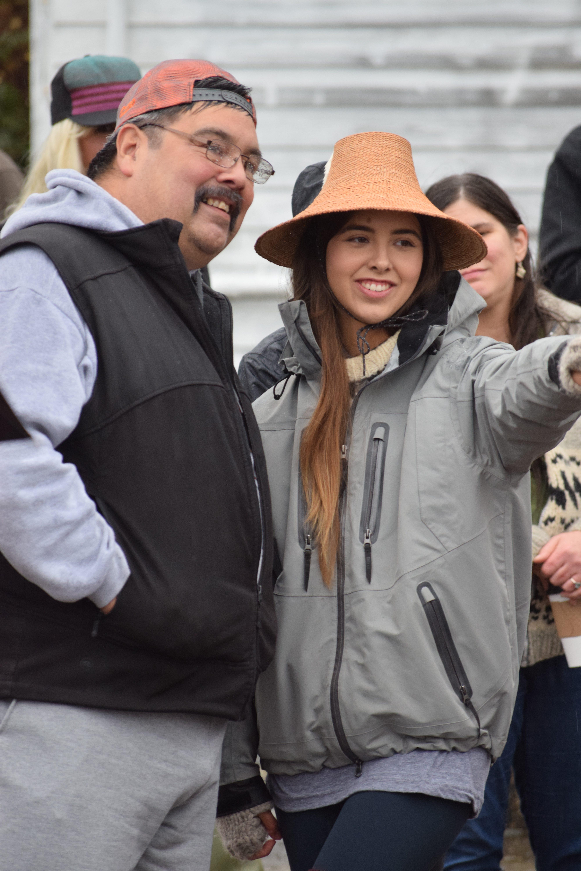 Haida woman, Haida Gwaii, Queen Charlotte Village, Spirit Square, forestry, BCTS, British Columbia Timber Sales, Queen Charlotte Village, Spirit Square,