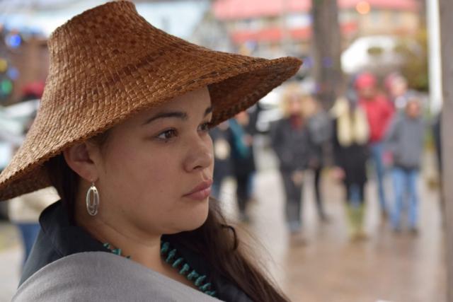 Haida woman, Queen Charlotte Village, Spirit Square, Haida Gwaii, forestry, BCTS, British Columbia Timber Sales