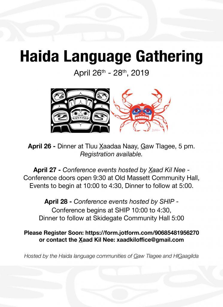 Haida Language Gathering 2019 – Council of the Haida Nation